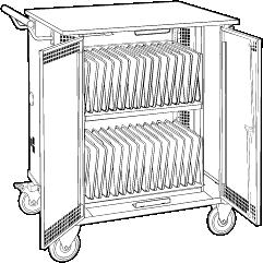 Charging Storage Cart