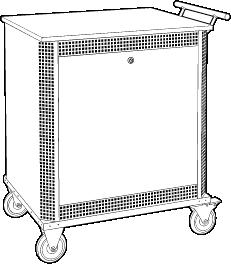 Laptop Security Cabinet Cart