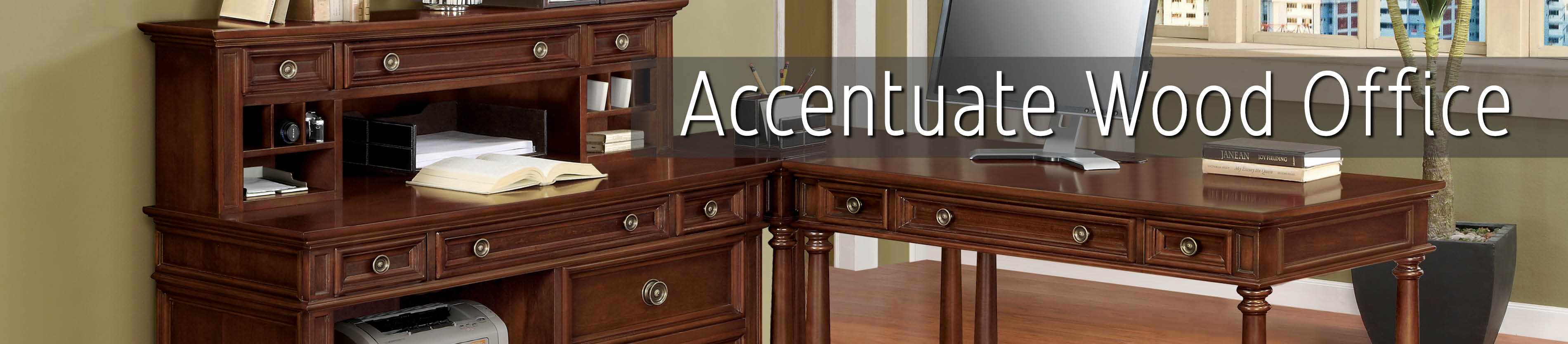Accentuate wood office furniture collection k log inc