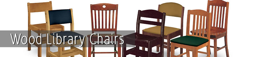 Wood Library Chairs