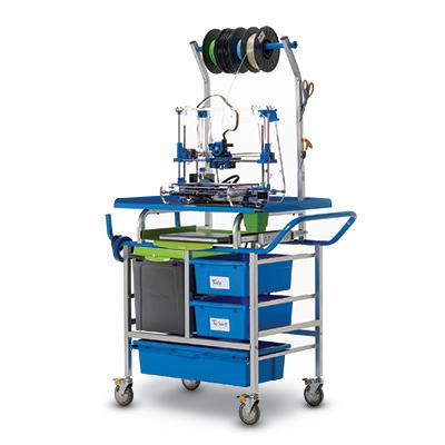Compact 3D Printing Carts