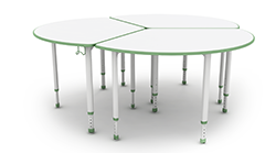 Wedge shaped tables