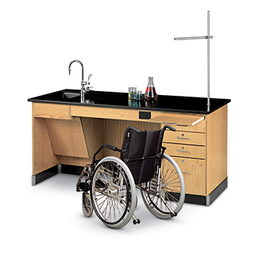 ADA accessible acience tables provide proper height