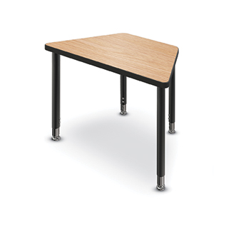 Desk with geometric shape for adaptable, multi-student arrangements