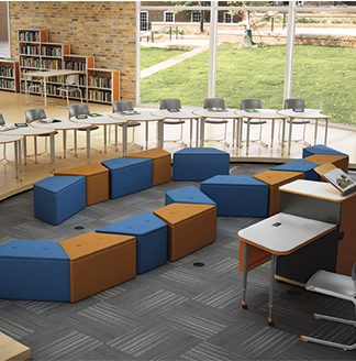 Soft seating to create impromptu discussion groups
