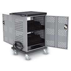 Carts use active fans or passive vents to prevent heat build up