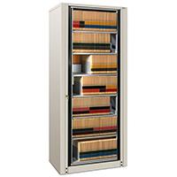 Filing cabinet with 7 adjustable shelves