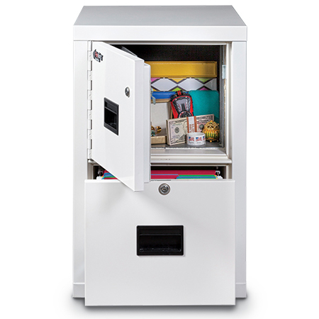 Locking safe disguised as a file cabinet