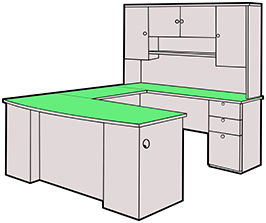 U-shape desk configuration