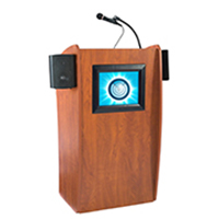 Lectern with LCD Display Screen