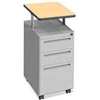 Mobile Podium with 3 Lockable Drawers
