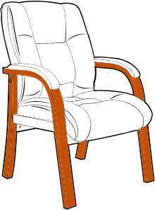 Big and Tall Chair with Extra Strong Four-Leg Frame