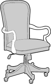 Chair with Gooseneck Arms