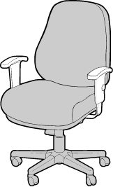 Chair with T-Arms