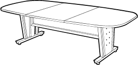 Conference Room Table with Apron