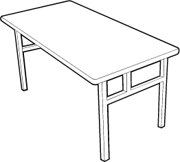 Conference Room Table with H-Base