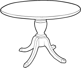 Conference Room Table with Queen Anne Base
