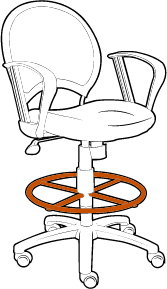 Drafting Chair with Footring