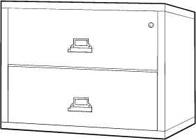 Fireproof Lateral File Filing Cabinet