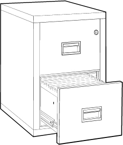 Fireproof Vertical File Filing Cabinet