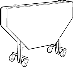 Octagon Folding Table