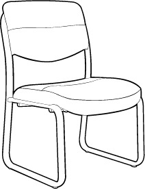 Sled-base Guest Chair
