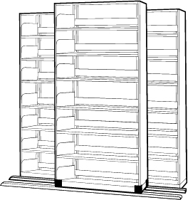 Sliding High-Density File Cabinet
