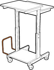 Cart with CPU Holder