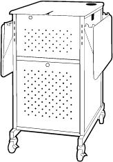 Cart with Hinged Shelf