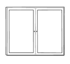 Two-Door Display Board