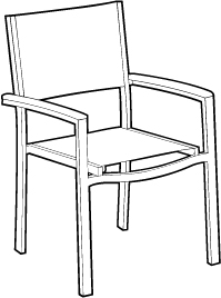 Sling Seat/ Back Chair