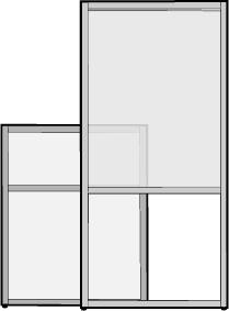 Freestanding Panel with Open Bottom