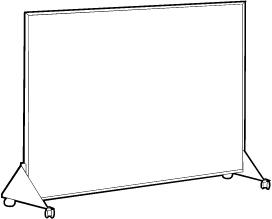 Mobile Markerboard and Vinyl Tackboard Panel