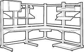 LAN Modular Computer Station