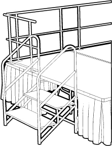 Handrails for Stage