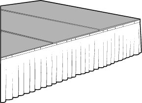 Optional Box Pleat for Stage